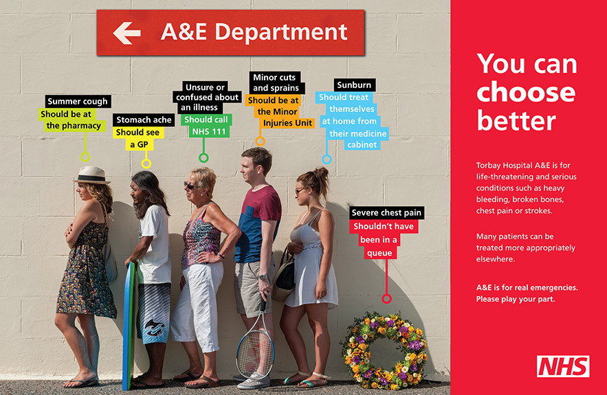 NHS Accident & Emergency Choose Better Campaign