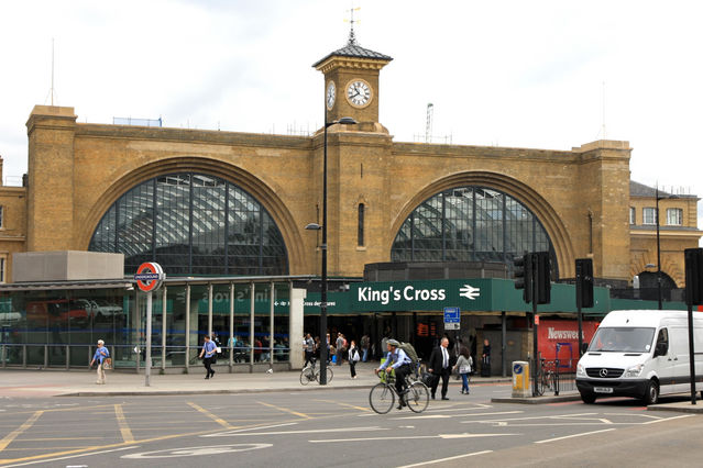 Kings Cross Train Station London UK