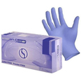Dark Blue Nitrile Powder-Free Examination Gloves - Box of 100